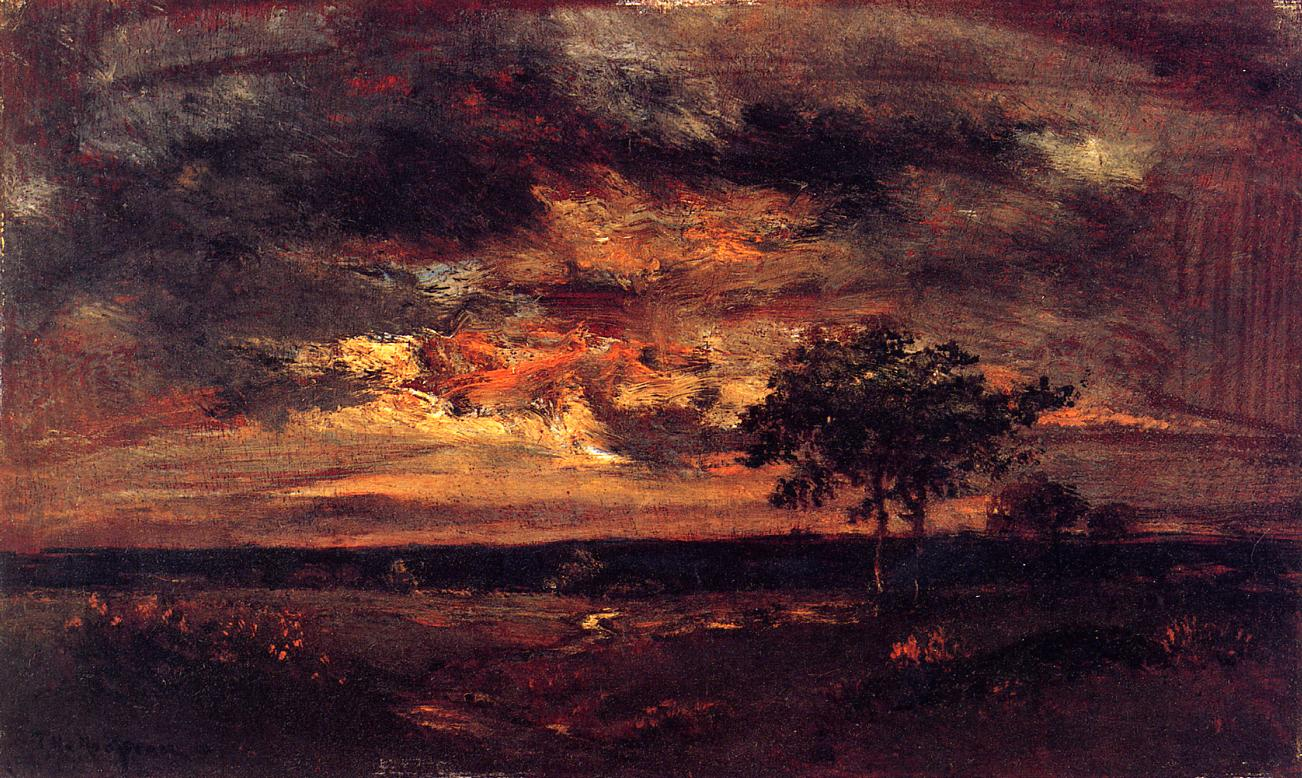 Twilight Landscape 1850 | Theodore Rousseau | Oil Painting