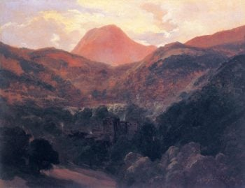 View of the Puy de Dome and Royat 1839   Theodore Rousseau   Oil Painting