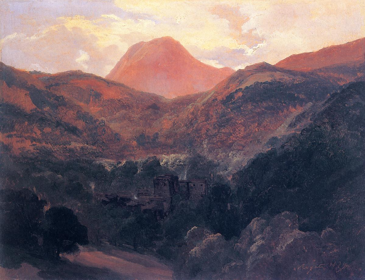 View of the Puy de Dome and Royat 1839 | Theodore Rousseau | Oil Painting