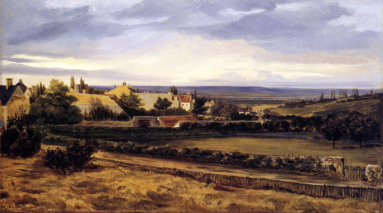 Village in a Valley 1832-1834 | Theodore Rousseau | Oil Painting