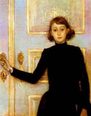 Portrait Of Marguerite Van Mons 1886 | Theo Van Rysselberghe | Oil Painting