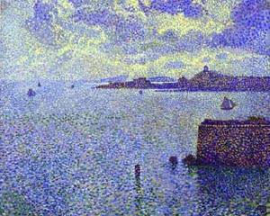 Sailboats And Estuary 1892-1893 | Theo Van Rysselberghe | Oil Painting