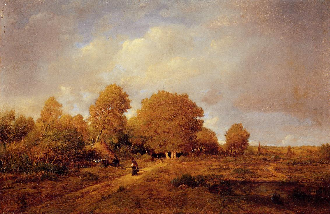 Woman Carrying Wood 1860 | Theodore Rousseau | Oil Painting