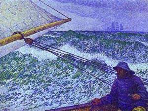 Man At The Helm 1892 | Theo Van Rysselberghe | Oil Painting