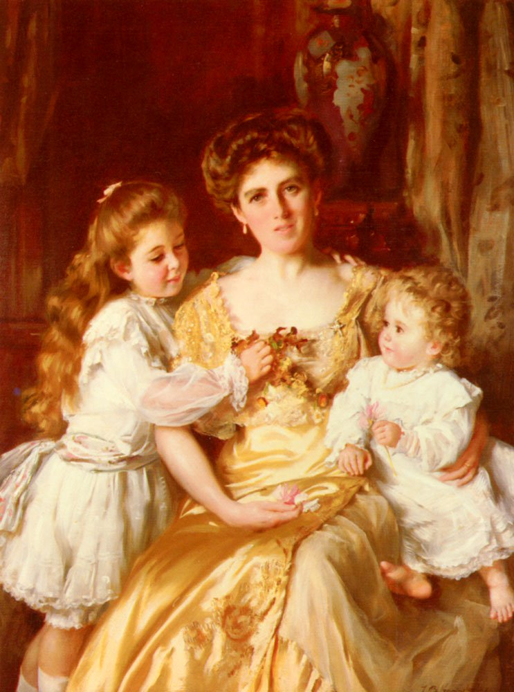 A Mothers Love | Thomas Benjamin Kennington | Oil Painting