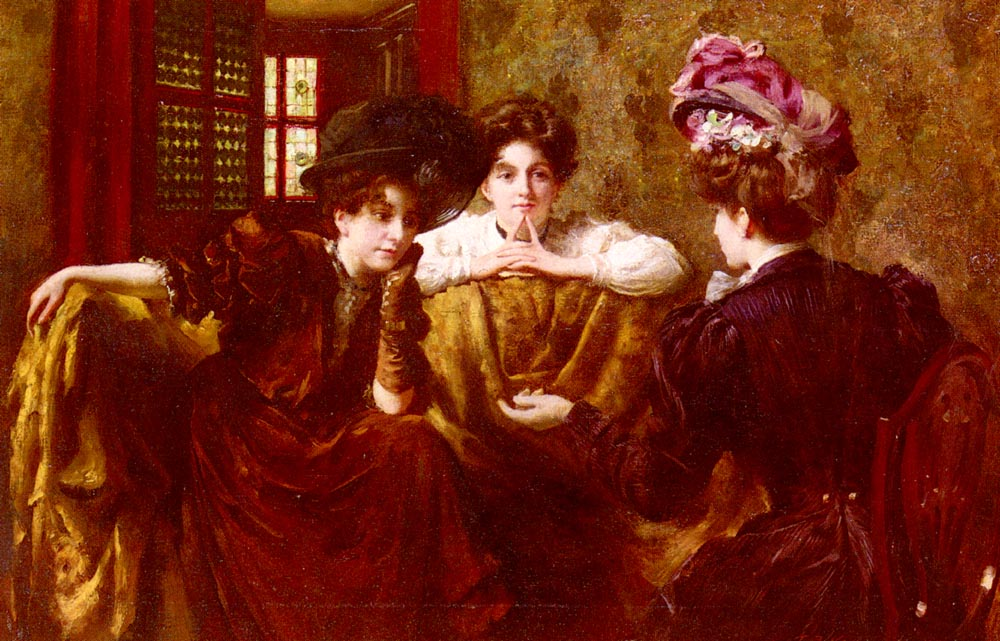 No Gossip | Thomas Benjamin Kennington | Oil Painting