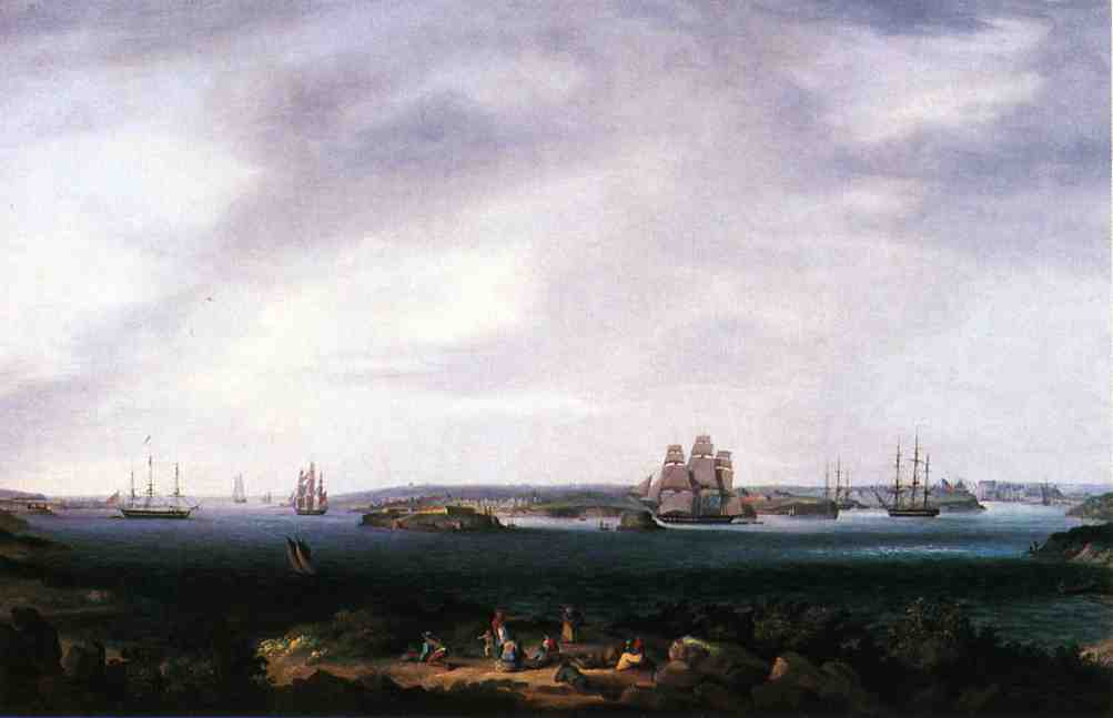 American Warships Anchored at Port Mahon Spain | Thomas Birch | Oil Painting