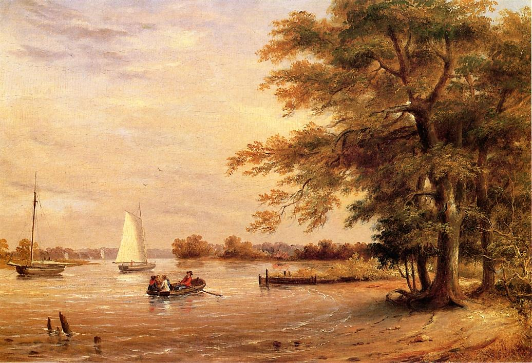 On the Shrewsbury River Redbank New Jersey 1840 | Thomas Birch | Oil Painting