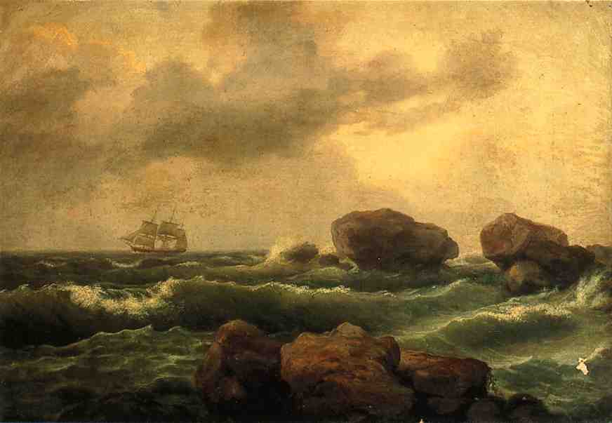 Seascape at Sunset | Thomas Birch | Oil Painting