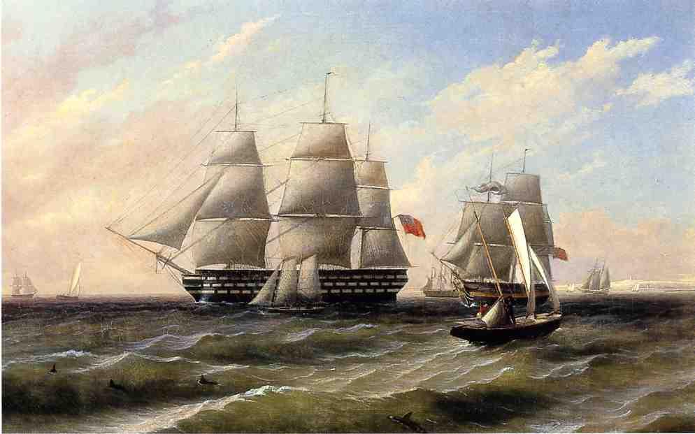 Ships at Sea | Thomas Birch | Oil Painting