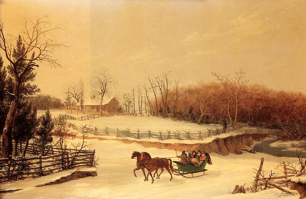 Sleigh Ride 1838 | Thomas Birch | Oil Painting