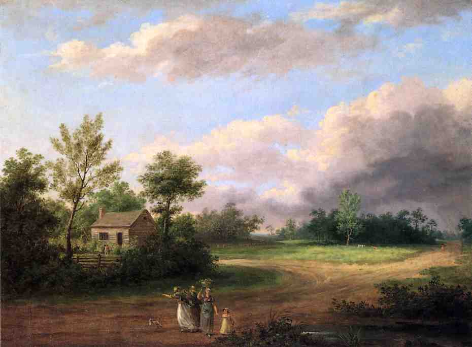 Strolling along a Country Road | Thomas Birch | Oil Painting
