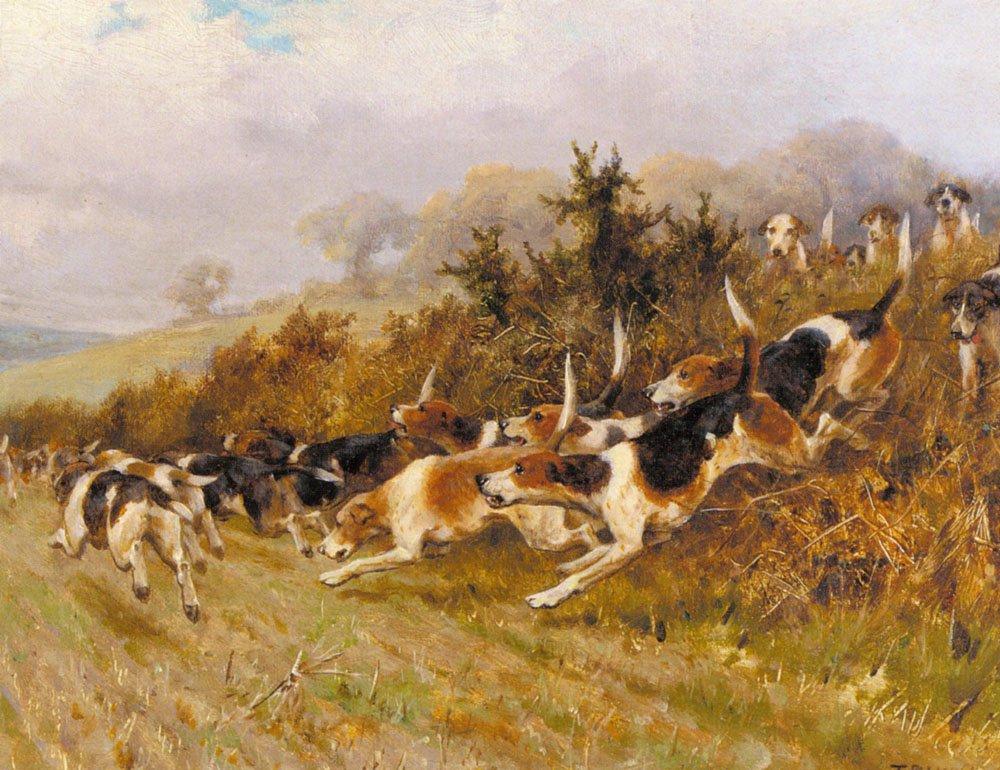 Full Cry   Thomas Blinks   Oil Painting