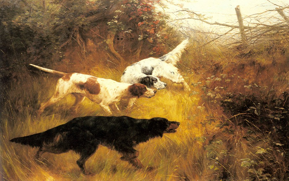 Three Pointers In A Landscape   Thomas Blinks   Oil Painting