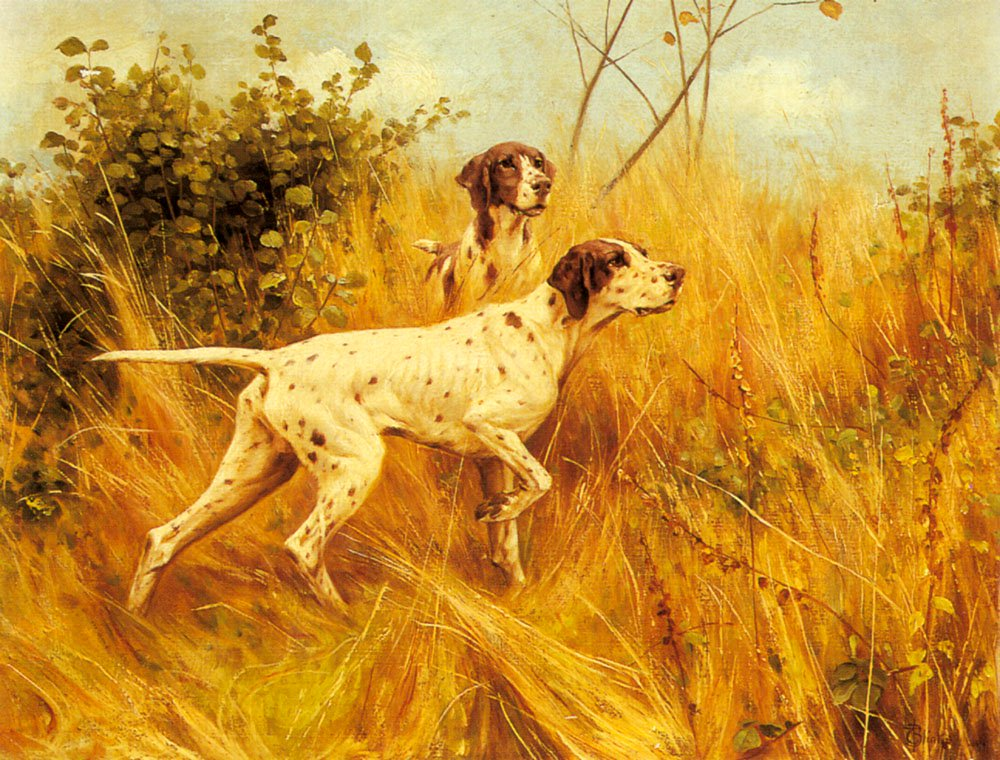 Two Pointers In A Landscape   Thomas Blinks   Oil Painting