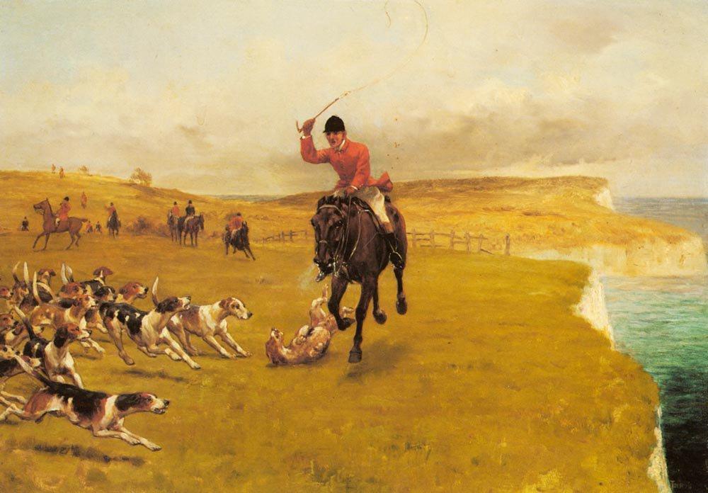 Ware Away The Cattistock   Thomas Blinks   Oil Painting
