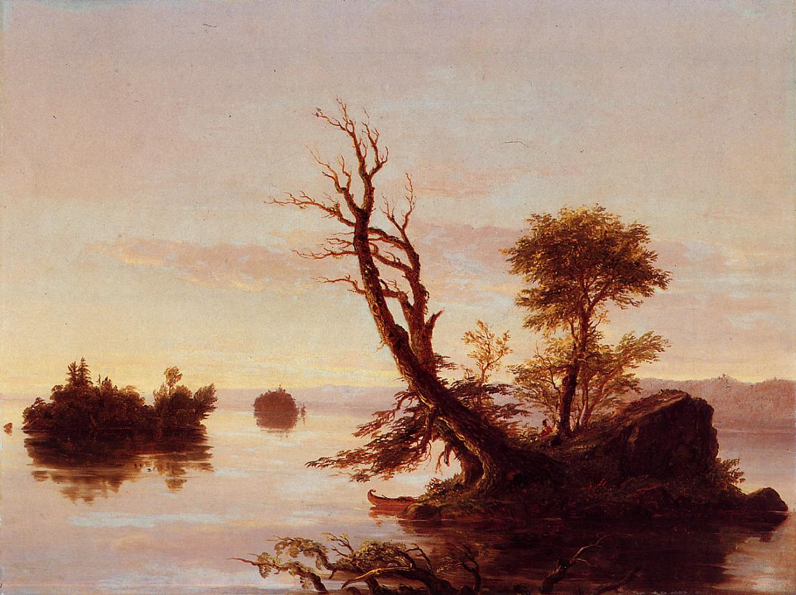 American Lake Scene 1844 | Thomas Cole | Oil Painting