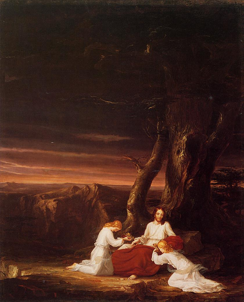 Angels Ministering to Christ in the Wilderness 1843 | Thomas Cole | Oil Painting
