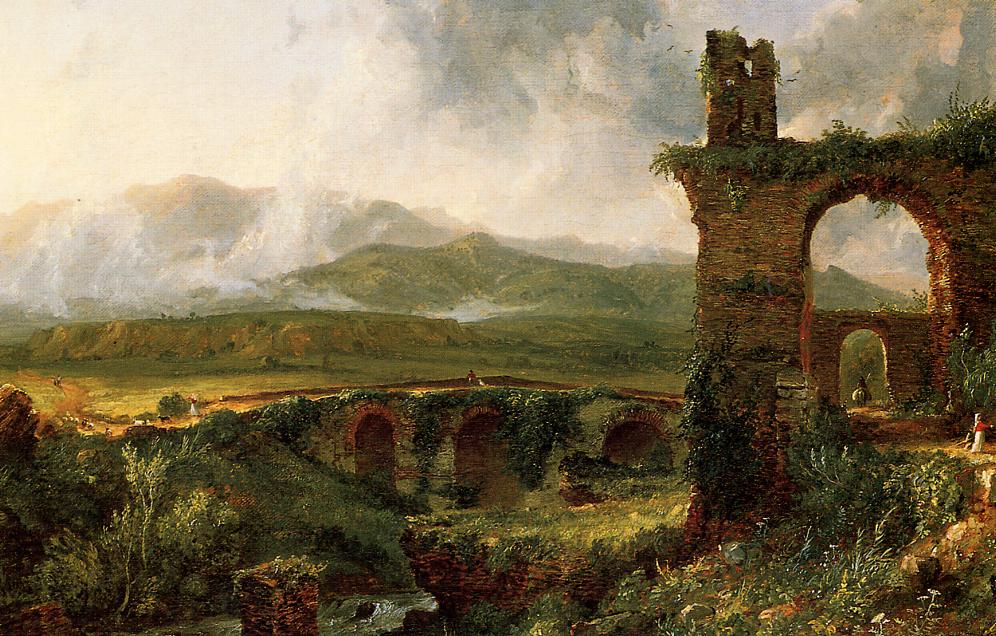 A View near Tivoli (aka Morning) 1830 | Thomas Cole | Oil Painting