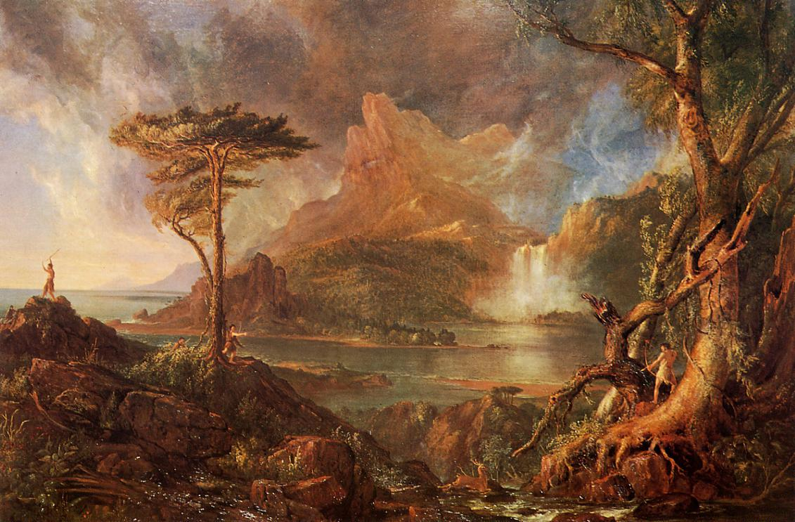 A Wild Scene 1831-1832 | Thomas Cole | Oil Painting