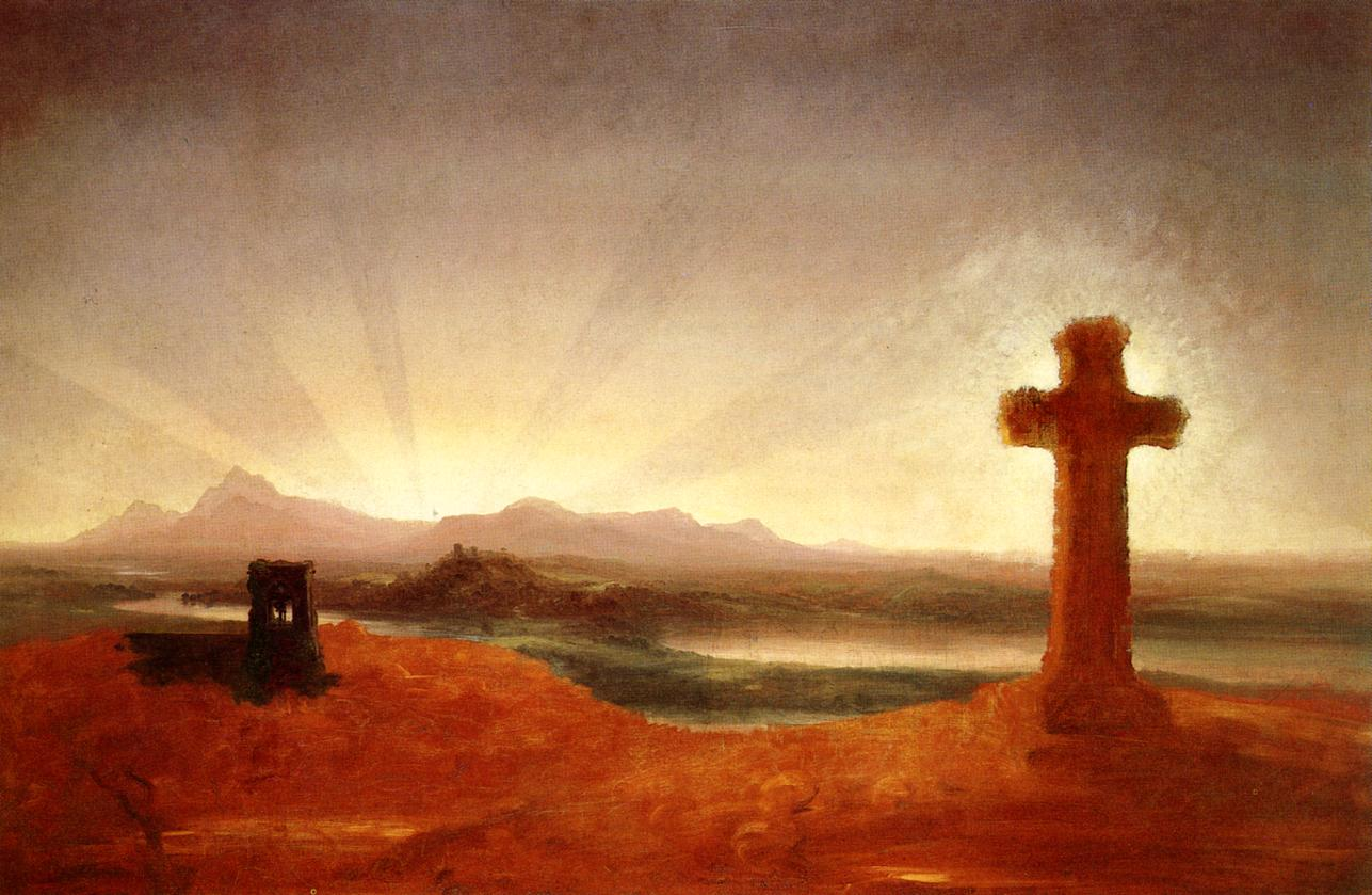 Cross at Sunset 1848 | Thomas Cole | Oil Painting