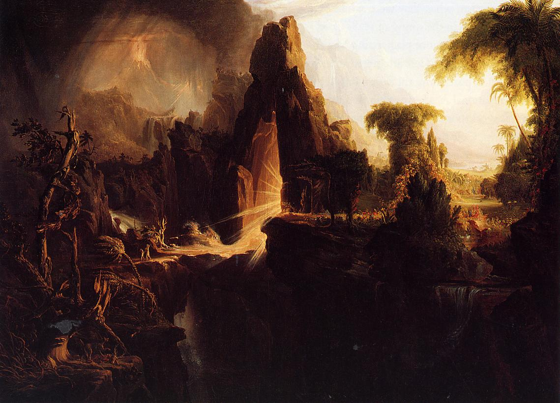 Expulsion from the Garden of Eden 1827-1828 | Thomas Cole | Oil Painting