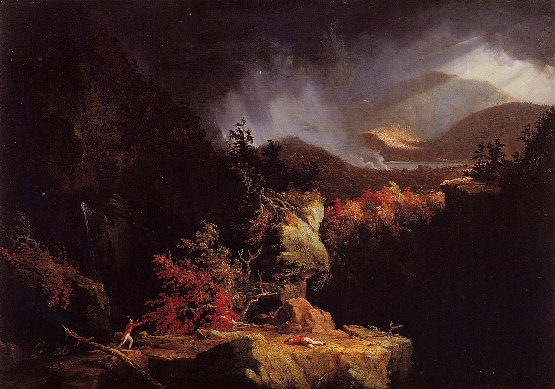 Gelyna (aka View near Ticonderoga) 1826-1828 | Thomas Cole | Oil Painting
