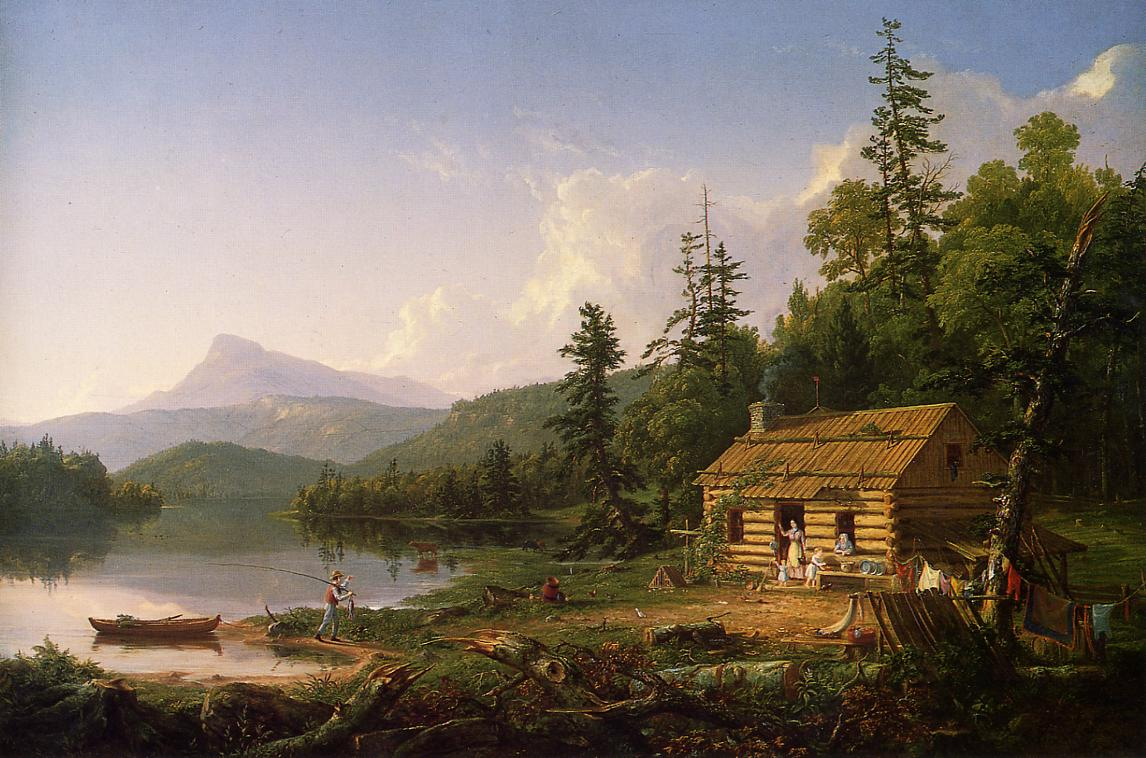 Home in the Woods 1847 | Thomas Cole | Oil Painting