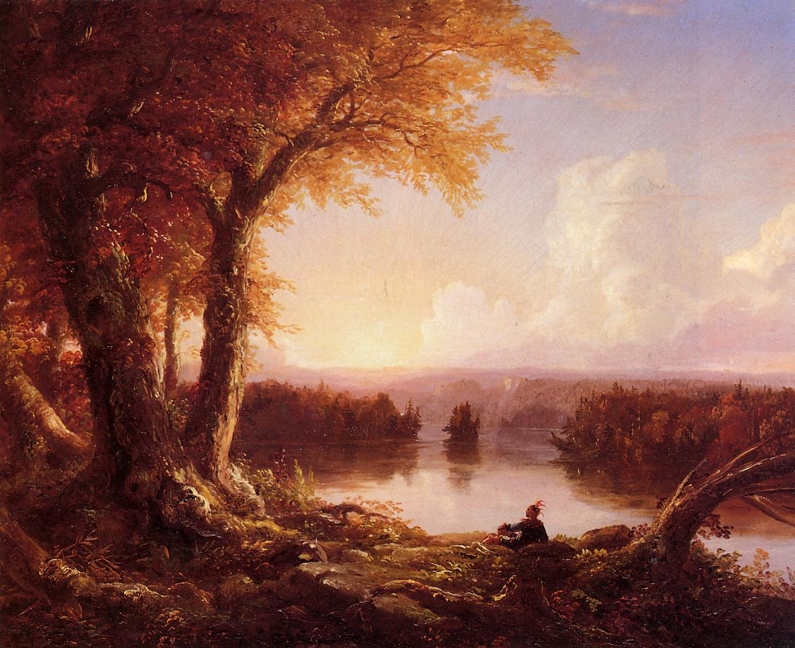 Indian at Sunset 1845-1847 | Thomas Cole | Oil Painting