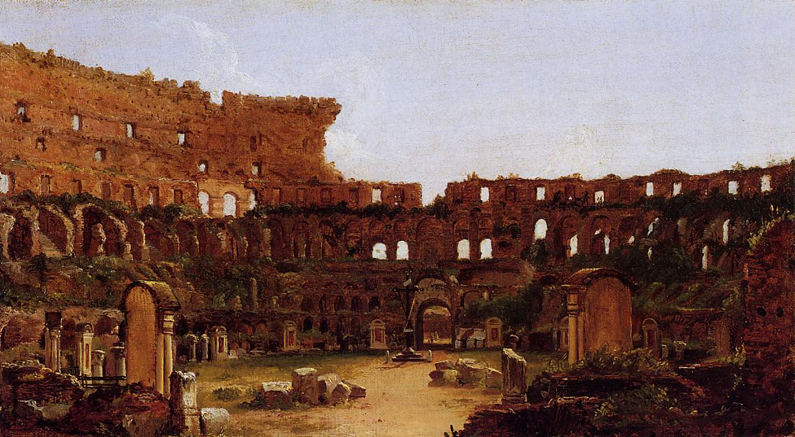 Interior of the Colosseum Rome 1832 | Thomas Cole | Oil Painting
