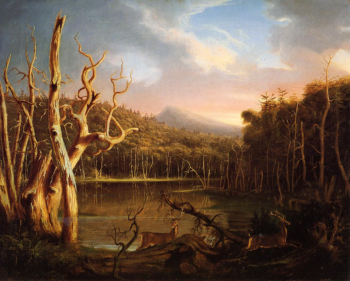 Lake with Dead Trees (aka Catskill) 1825 | Thomas Cole | Oil Painting
