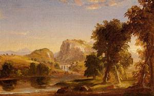 Sketch for Dream of Arcadia 1838 | Thomas Cole | Oil Painting