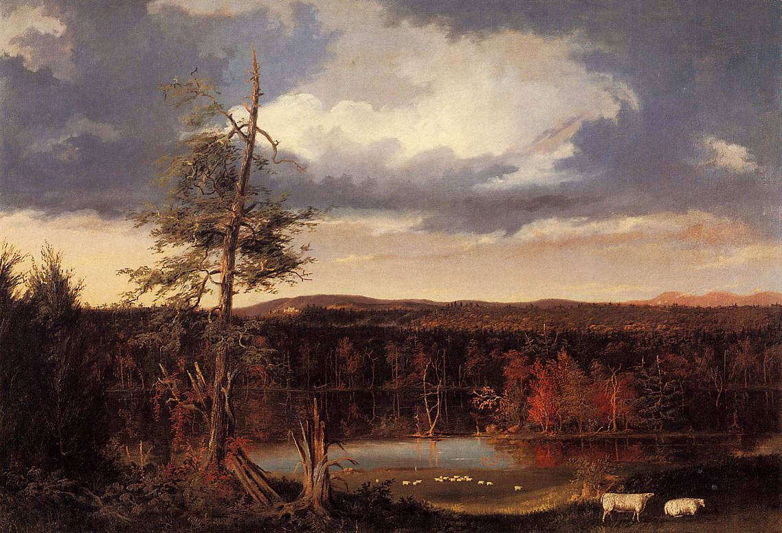 Landscape the Seat of Mr Featherstonhaugh in the Distance 1826 | Thomas Cole | Oil Painting