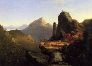 Scene from The Last of the Mohicans Cora Kneeling at the Feet of Tanemund 1827 | Thomas Cole | Oil Painting