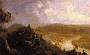 Sketch for The Oxbow 1836 | Thomas Cole | Oil Painting