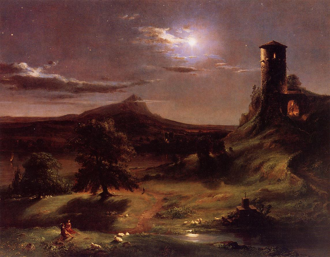 Moonlight 1833-1834 | Thomas Cole | Oil Painting
