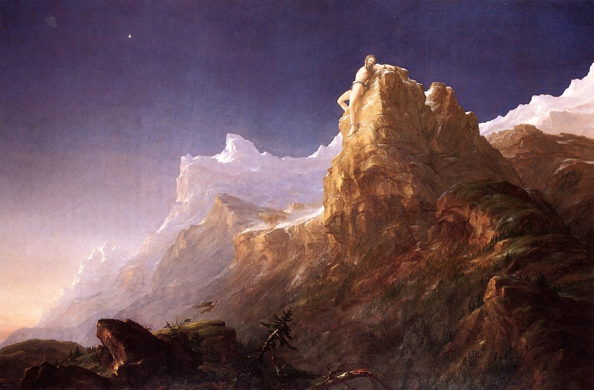 Prometheus Bound 1846-1847 | Thomas Cole | Oil Painting