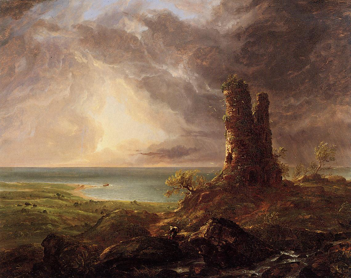 Romantic Landscape with Ruined Tower 1832-1836 | Thomas Cole | Oil Painting