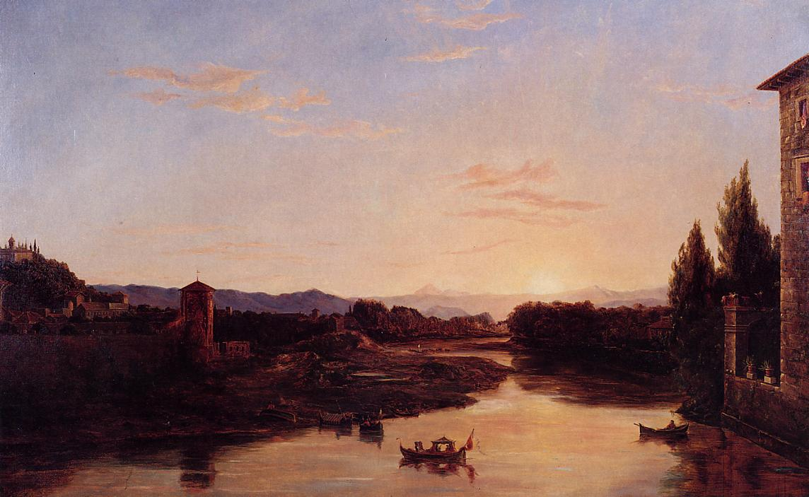 Sunset on the Arno 1837 | Thomas Cole | Oil Painting