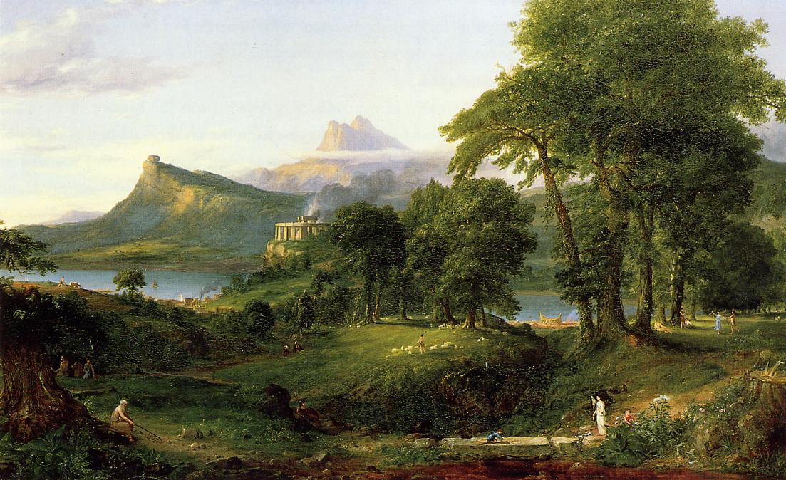 The Course of Empire The Arcadian or Pastoral State 1836 | Thomas Cole | Oil Painting