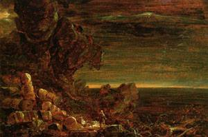 The Cross and the World Study for The Pilgrim of the Cross at the End of His Journey 1846-1847 001 | Thomas Cole | Oil Painting