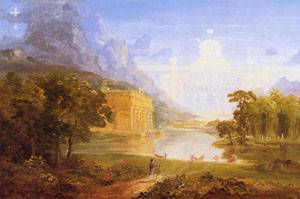 The Cross and the World Study for The Pilgrim of the World on His Journey 1846-1847 | Thomas Cole | Oil Painting