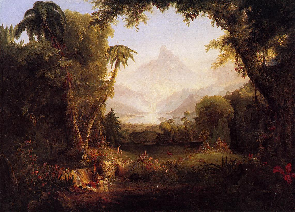 The Garden of Eden 1828 | Thomas Cole | Oil Painting
