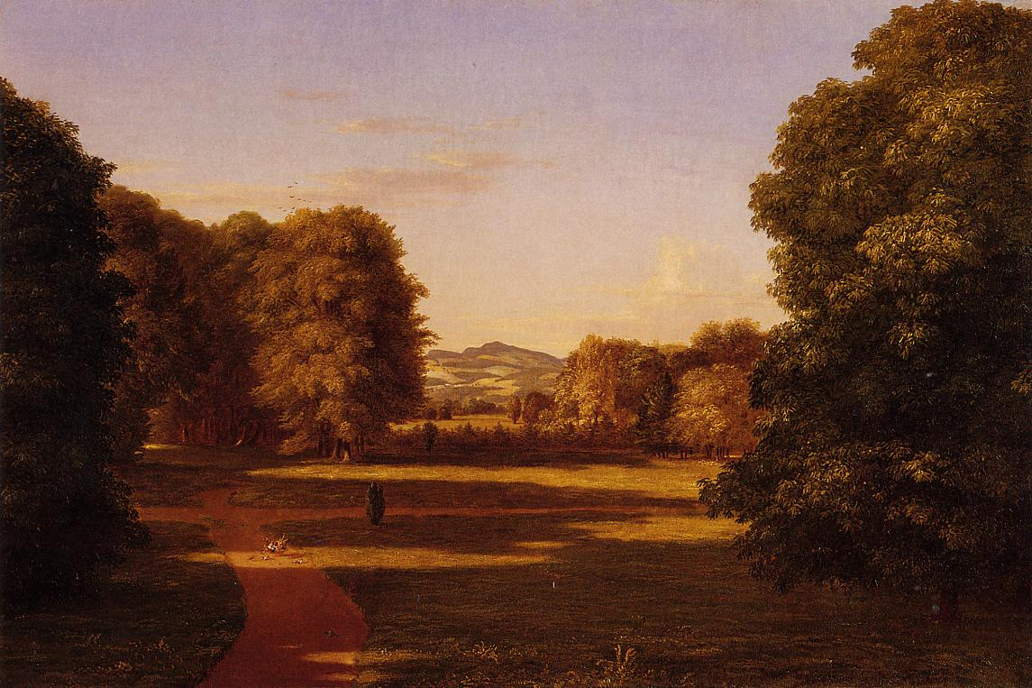 The Gardens of the Van Rensselaer Manor House 1840 | Thomas Cole | Oil Painting
