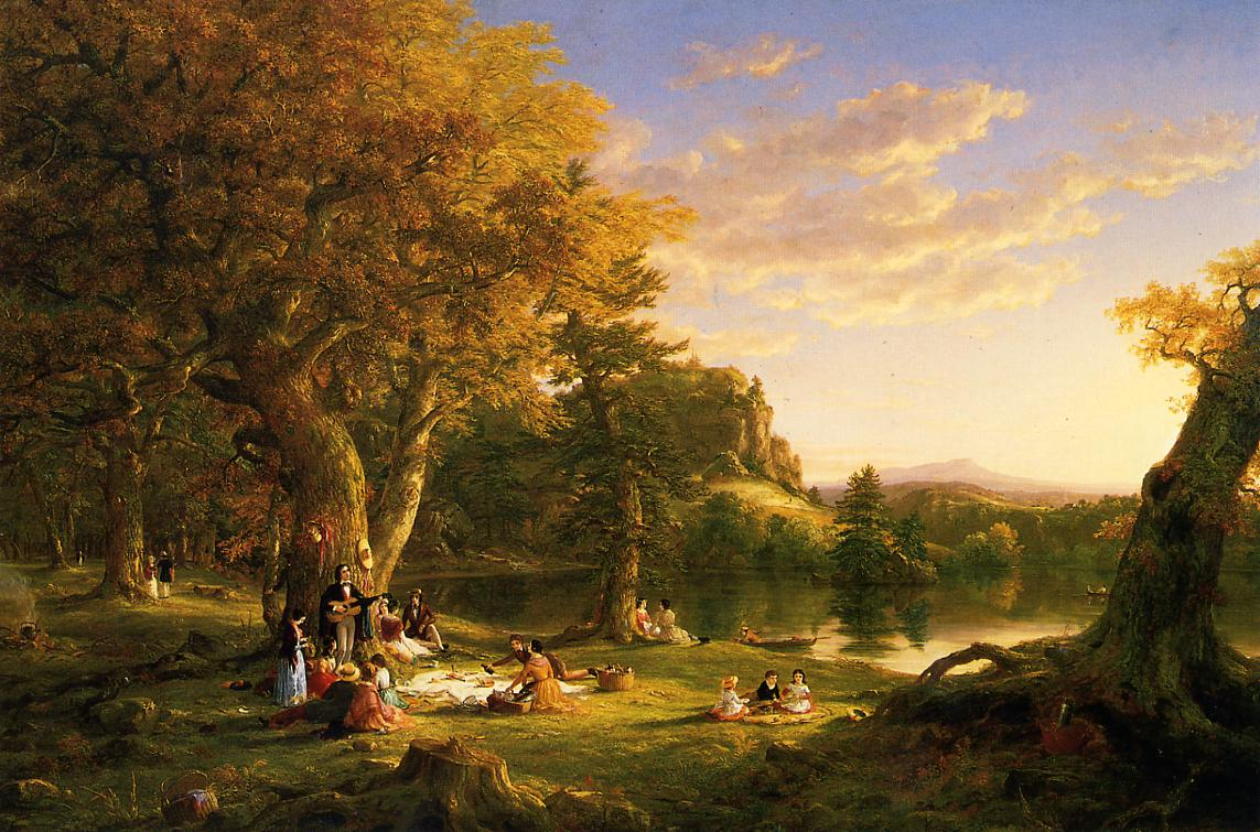 The Picnic 1846 | Thomas Cole | Oil Painting