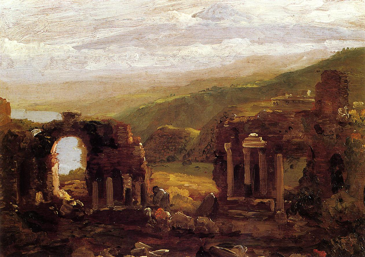The Ruins of Taormina 1842 | Thomas Cole | Oil Painting