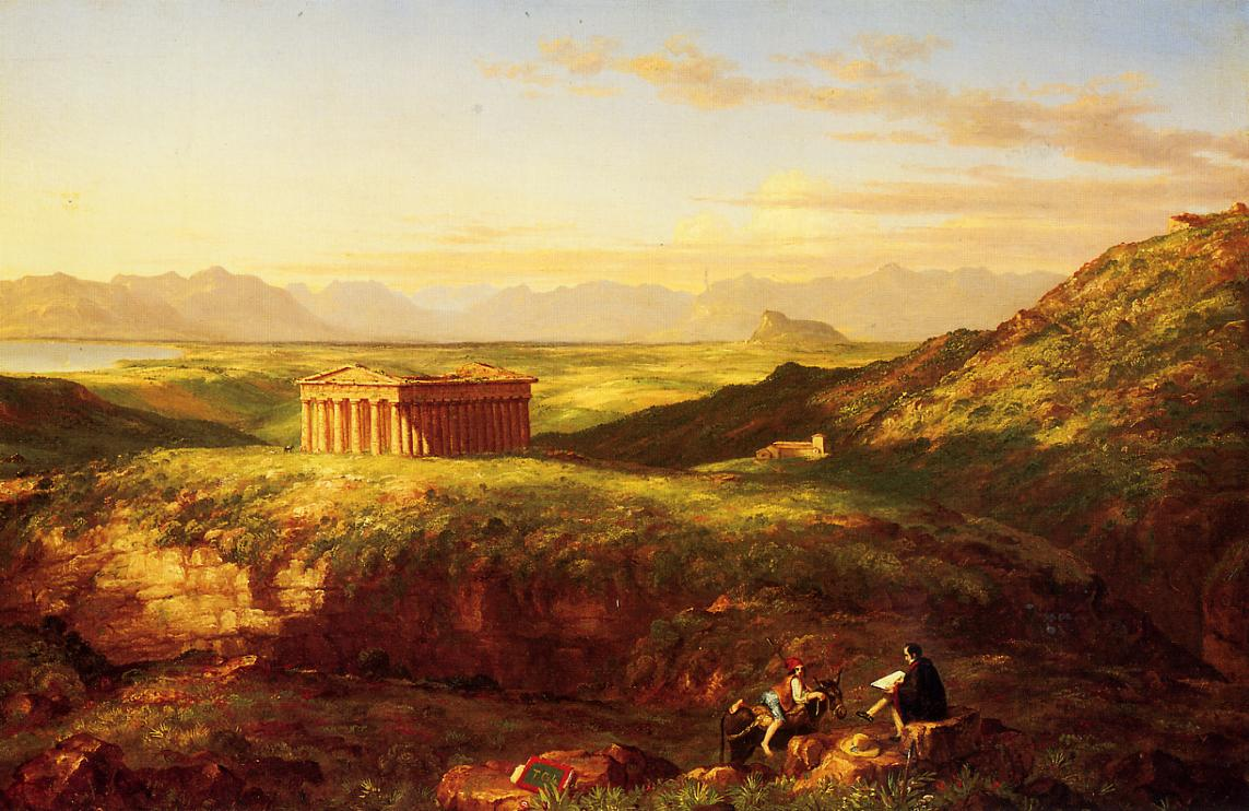 The Temple of Segesta with the Artist Sketching 1843 | Thomas Cole | Oil Painting