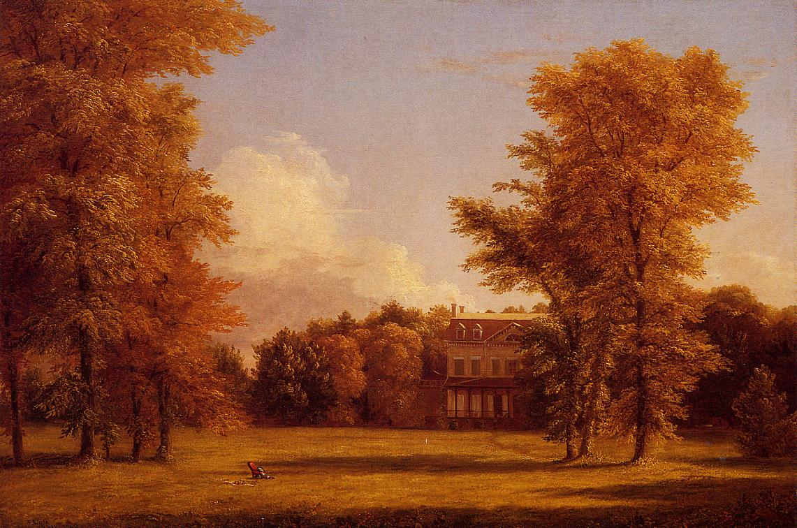 The Van Rensselaer Manor House 1841 | Thomas Cole | Oil Painting