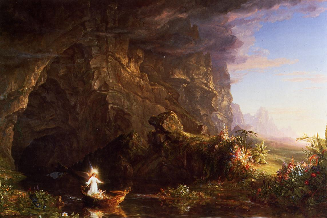 The Voyage of Life Childhood 1839-1840 | Thomas Cole | Oil Painting