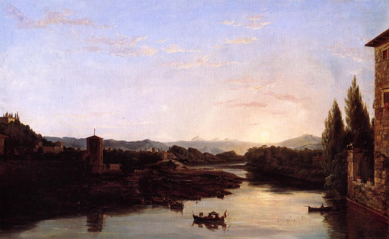 View of the Arno 1835-1838 | Thomas Cole | Oil Painting